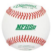 Diamond Dol-1 Hs New Nfhs Official League Leather Baseballs (Dozen)