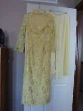 New Pale Yellow Silver Floral AO DAI Custom-made Formal Wedding Dress M & Pants