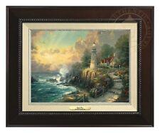 "Thomas Kinkade Light of Peace Canvas Classic 9"" x 12"" (Espresso Frame)"