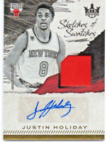 Justin Holiday 17-18 Panini Court Kings Sketches & Swatches Jersey Auto #067/399