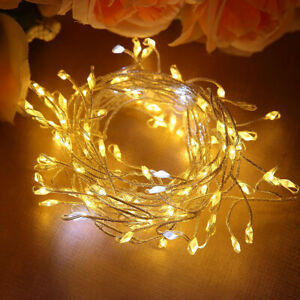 120 Warm White Micro LEDs USB Plug in String Fairy Lights for Wedding Party Xmas