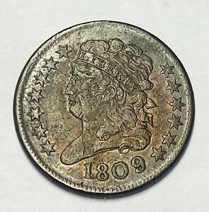 Nice 1809 Copper Bust Half Cent Coin