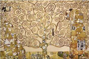 Gobelin Tapestry Textile Picture Tree of Life Klimt Panels without Frame 98x73