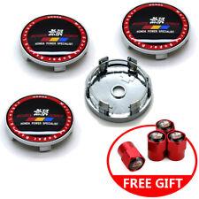 "4x 60mm 2.36"" Car Wheel Center Hub Caps Rim Fit Mugen + Free Valve Stem Caps"