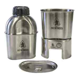 Pathfinder GEN2 Canteen Cooking Set - Stainless Steel for Camping, Survival