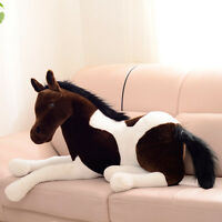 Xmas Giant Emulational Horse Plush Toy Alive Stuffed Animal Pillow Gift 130X60cm