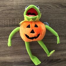 Jim Hensen's Muppets Kermit the Frog in Pumpkin Costume Plush