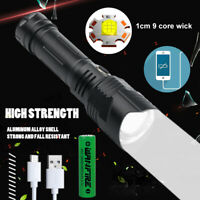 Most Bright XHP100 LED Flashlight 26650 USB Rechargeable Zoom Torch Light XHP50