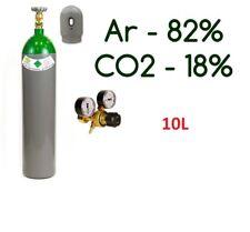 NEW Argon 82% CO2 18% MIX FULL Bottle Cylinder 10 Liter 200 Bar Gas Regulator