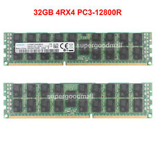 For Samsung 32GB 4RX4 PC3-12800R DDR3-1600Mhz 240pin ECC Registered Server RDIMM