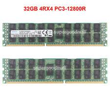 For Samsung 32GB 4RX4 PC3-12800R DDR3-1600Mhz ECC Registered Server RDIMM RAM
