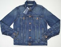 NWT Men's Tommy Hilfiger Classic Distressed Denim Jeans Jacket Outerwear $120