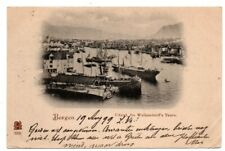 Norway Norge Vestland County Bergen Udsigt Walkendorff's Used Stamp Postcard