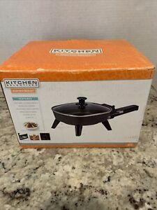 "Kitchen Selectives Black Eletric Skillet 6x6"" NEW in Box"