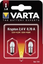 Varta Krypton-Glühlampen 751  2,4 V - 0,70 A  2 Stück