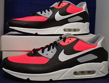 Nike Air Max 90 Hyperfuse Premium iD Black White Solar Red SZ 12 ( 822560-981 )