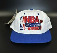 NBA Europe Tour Vintage 90s Sports Specialties Snapback Cap Hat - NWT