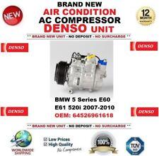 DENSO AIR CONDIZIONE AC Compressore BMW 5 E60 E61 520i 2007-2010 OEM: 64526961618