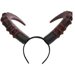 Halloween Cosplay Hair Accessories Realistic Long Devil Horn Carnival Headband