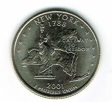 2001-D Brilliant Uncirculated New York 11TH State Quarter Coin!