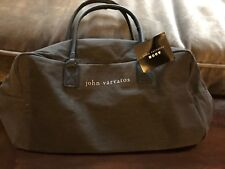 Handsome JOHN VARVATOS Duffel Gym Weekender Bag Dark Rich Gray - NEW WITH TAG