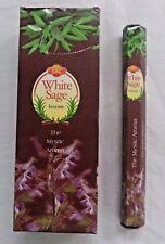 JBJ SAC White Sage Incense Bulk 6 x 20 Stick Box, 120 Sticks Wicca