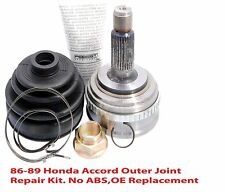 92-00 Civic CV Axle Outer Joint Repair Kit 1Joint, 1Nut, 1Boot, 2Clamps,1Grease