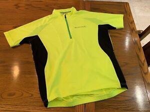 Endura Short Sleeve Mens Cycling Jersey Flourescent Size Large No Reserve