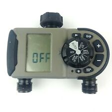 Orbit 56544 2 Outlet Programmable Hose Faucet Timer Gray Black Working