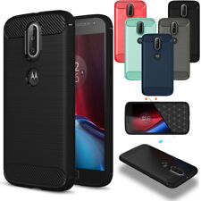 For Motorola Moto G4 Plus/Play Absorb Shockproof Brushed Silicone TPU Case Cover