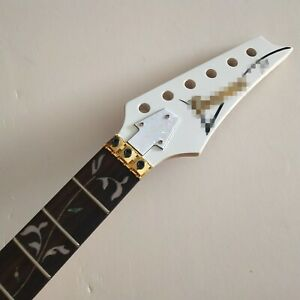 Maple Ibanez style Electric Guitar Neck 24 Fret Rosewood Fretboard inlay parts