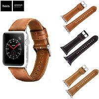 HOCO Duke Genuine Leather Band for Apple Watch Series 6 5 4 3 Strap 38/42/40/44
