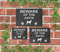 Beware of the Dog Slate Door Gate House Sign 3 Sizes All Breeds available D - L