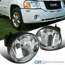 02-09 GMC Envoy Denali Clear Fog Driving Lights Bumper Lamps Replacement+Bulbs