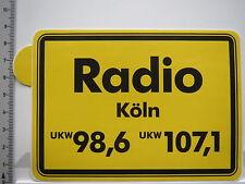 Aufkleber Sticker Radio Köln - Rundfunk - UKW (6404)