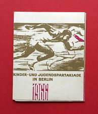 DDR Spendenmarken Heft Dynamo 1966 Kinder- und Jugendspartakiade Berlin  ( 51624