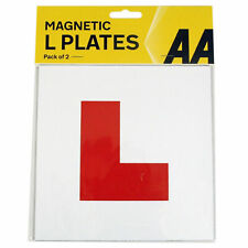 2 X Genuine AA Fully Magnetic Exterior Car Bike New Learner L Plates Secure Safe
