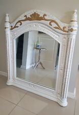 Timber French Country Mirror Gold Cream Crackle Effect
