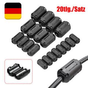 20 Stk Klapp Ferrit Filter Mantel Strom Ferritkern Entstörung Für 3,5-13mm Kabel