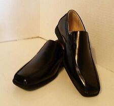 Florsheim Kids Reveal Black Leather Loafer Snip Toe Slip On Boys Youth Size 5