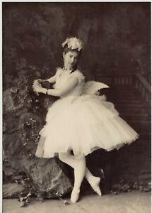 Ekaterina Vazem BALLERINA Russian BALLET DANCER 1871 RARE NEW Reprint Postcard