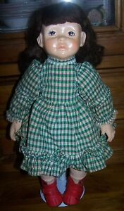 AUSTRALIAN SCALLYWAG CERAMIC DOLL WITH PAINTED FEATURES - CIRCA 1980's