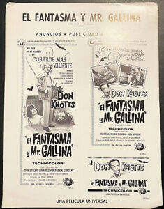 GHOST AND MR.CHICKEN! '66 D.KNOTTS COMEDY ORIGINAL SPANISH FILM PRESS BOOK!