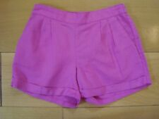 BNWOT GIRLS 12 yrs CASUAL FIT SHORTS by GAP KIDS Hot Pink - Linen Cotton Mix