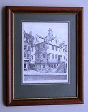 Impresión De Dibujo Coleccionable Firmado Limited Edt John Knox Casa Graham Rc Forbes