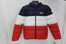 Levi's Big Boys Logo Puffer Jacket-COLOR:WHITE MULTI-SIZE:LARGE-NWT