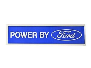 Mustang Power By Ford Decal Blue with White 1964 1/2 - 1973