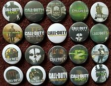 Call Of Duty Button Badges x 20. Pins. Wholesale. Collector.  Bargain.. :0)