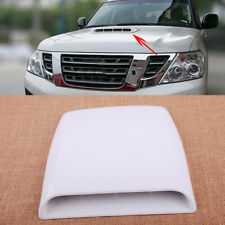 White 4x4 Car Auto Decorative Air Flow Intake Turbo Bonnet Vent Cover Hood Scoop