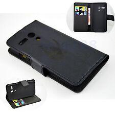 Premium Leather Slot Card Flip Wallet Pouch Cover Case For Motorola Moto G 1 Gen